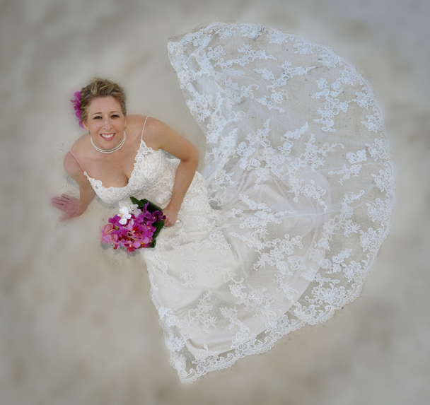 Wedding dress romantic - Belize Wedding