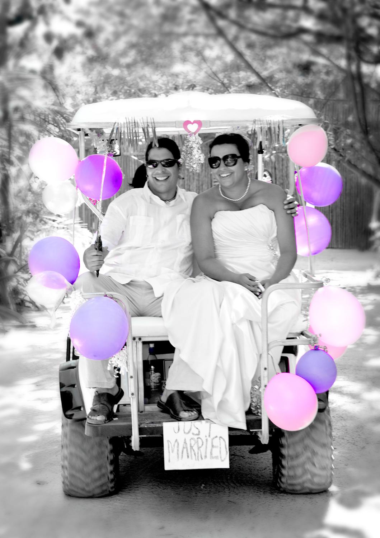 Xanadu Belize Wedding | Belize Wedding Photography Blog on ford think electric golf cart, burning man golf cart, pink golf cart,