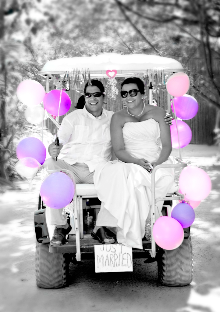 Golf Cart Wedding Belize