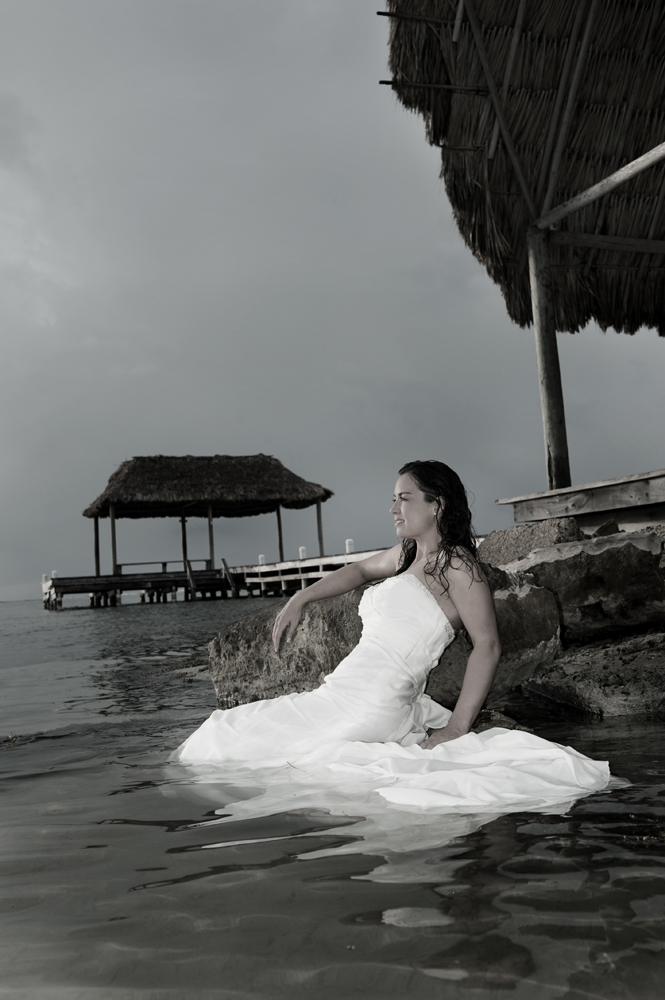Belize Wedding Trash the Dress
