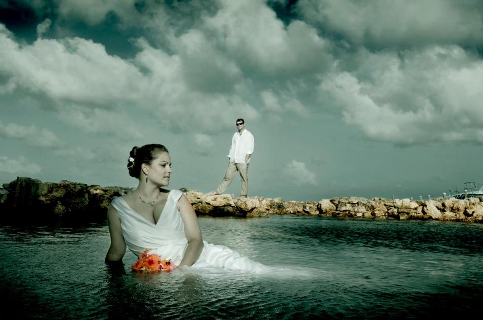 Trash the Dress Ambergris Caye