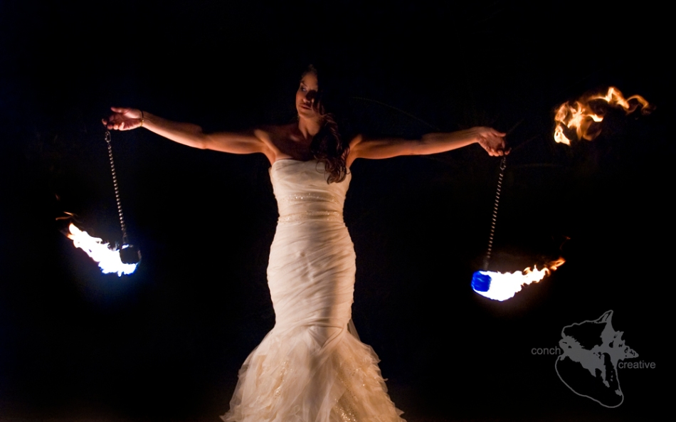 Fire Dancing Bride Belize