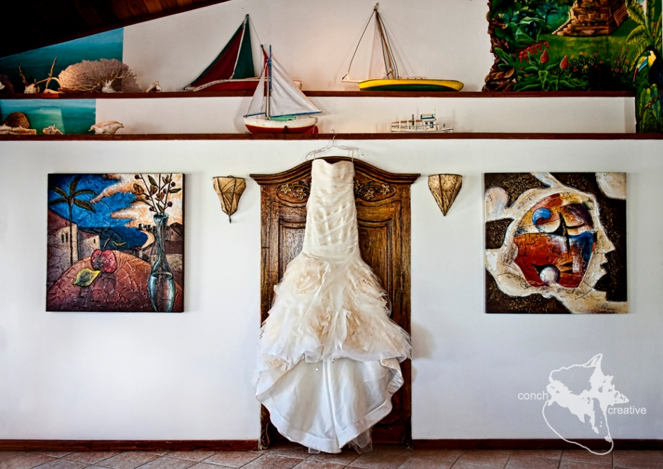 Vera Wang Dress - Belize Wedding - Ambergris Caye