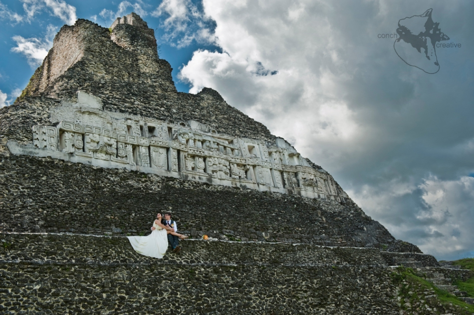 Maya Ruins - Xunantunich - Wedding Photography in Belize