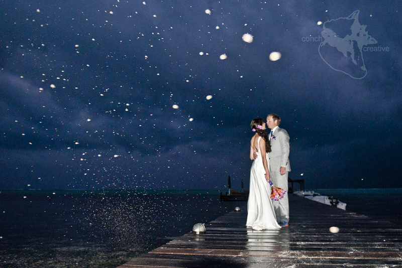 Belize Wedding in the rain - Belize Photographer