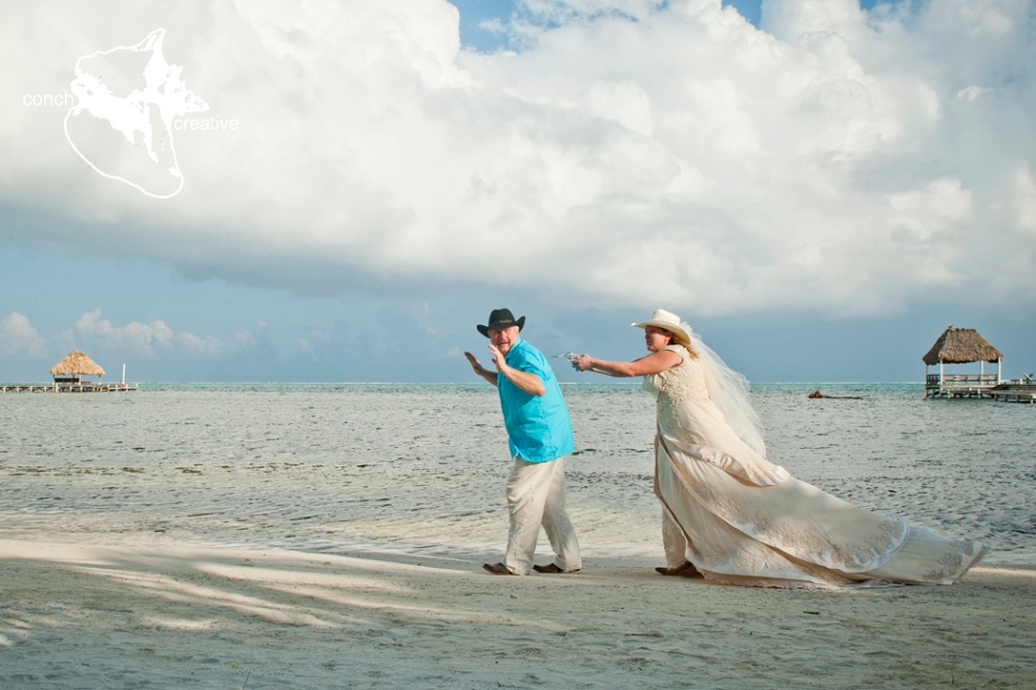 Belize Wedding Photographer - Trash the Dress in Belize