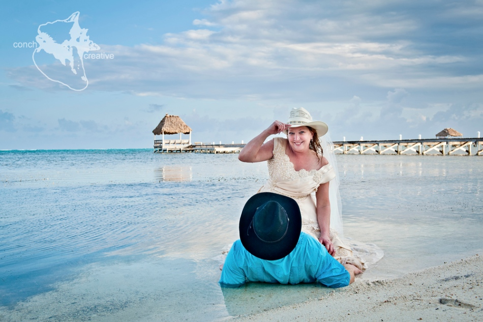 Trash the dress Belize Wedding Photographer - Conch Creative