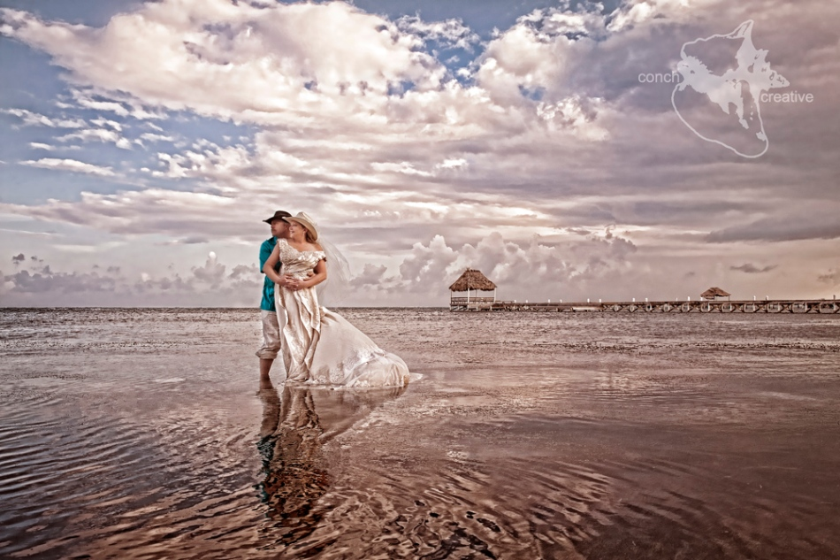 Trash the Dress Belize Wedding Photographer