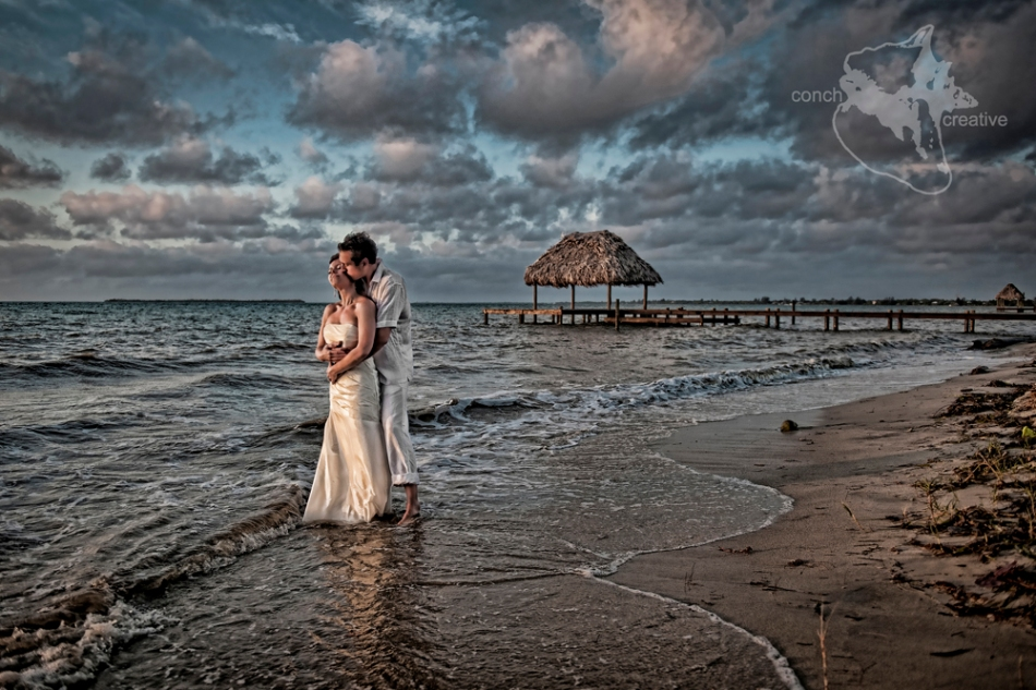 Belize Destination Wedding Trash the Dress