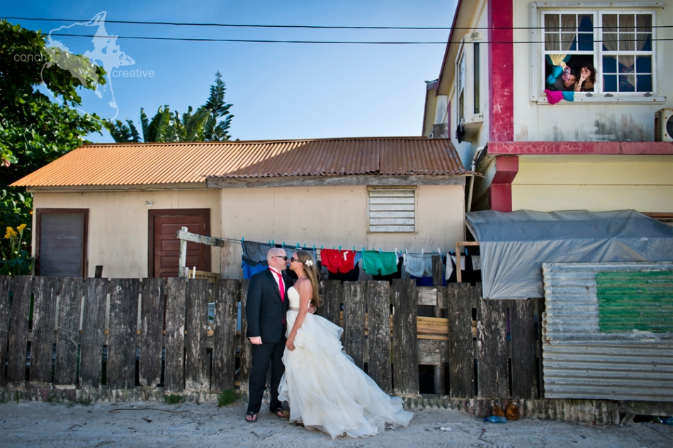 Trash the dress - Belize Wedding Photographer