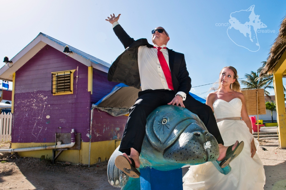 Trash the DRess - Wedding Photography in Belize